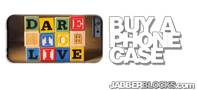 dare to live phone case