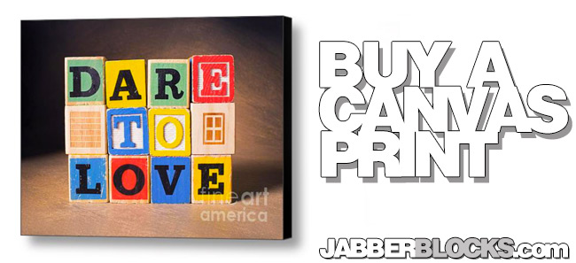 dare to love canvas print