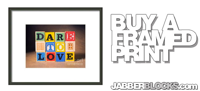 dare to love framed print