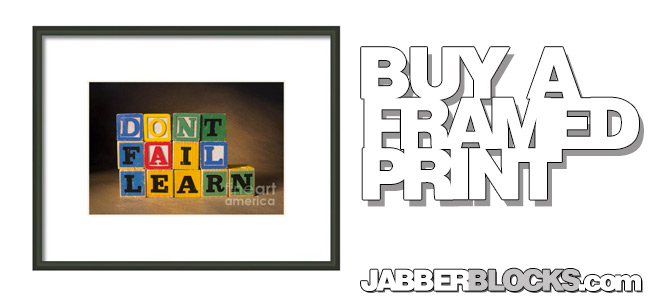 don't fail, learn framed print