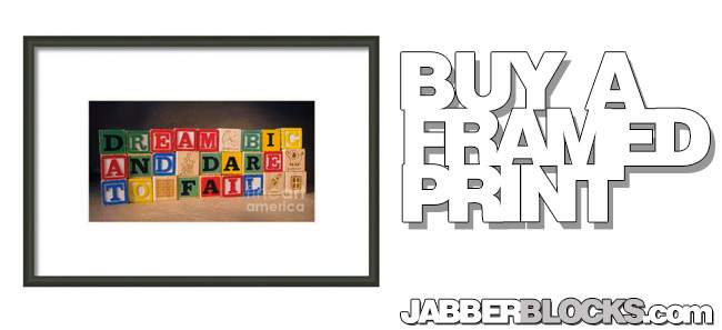 dream big and dare to fail framed print