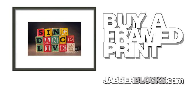 Sing Dance Live Framed Print