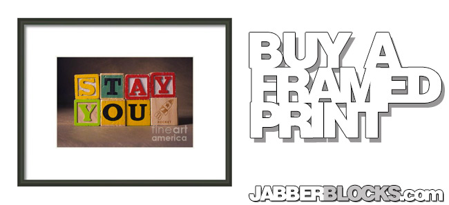 Stay You Framed Print