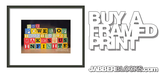 The Power Of Imagination Makes Us Infinite Framed Print
