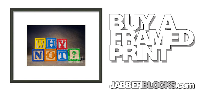 Why Not? Framed Print