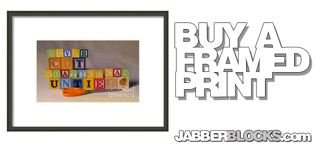 Never Cut What You Can Untie Framed Print